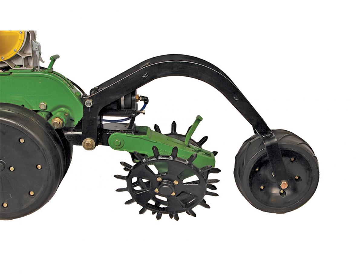 Setting the stage for even emergence and facilitating ideal growth with the pneumatic 29140 Air Adjust Firming Wheel.