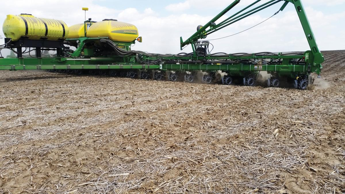 2940-010 Air Adjust Coulter/Row Cleaner Combo in the field