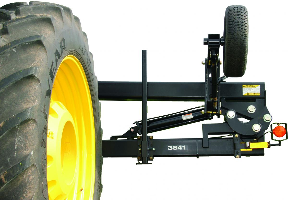 Single-Frame Hydraulic Locking Toolbar wheel cutout