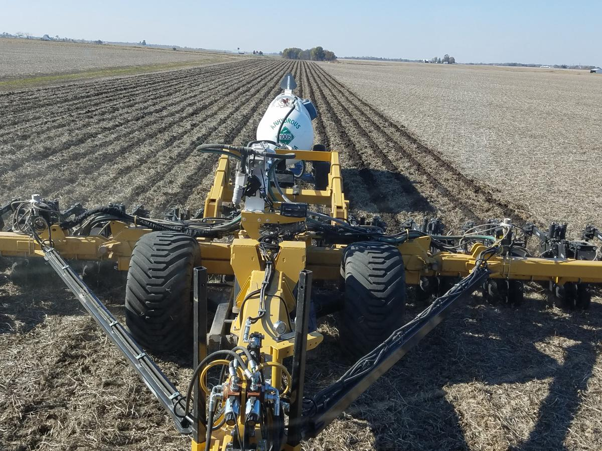 Front view of the 2984 Maverick running in the field
