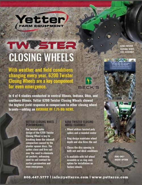 Yetter Twister Closing Wheel Flyer thumbnail and download