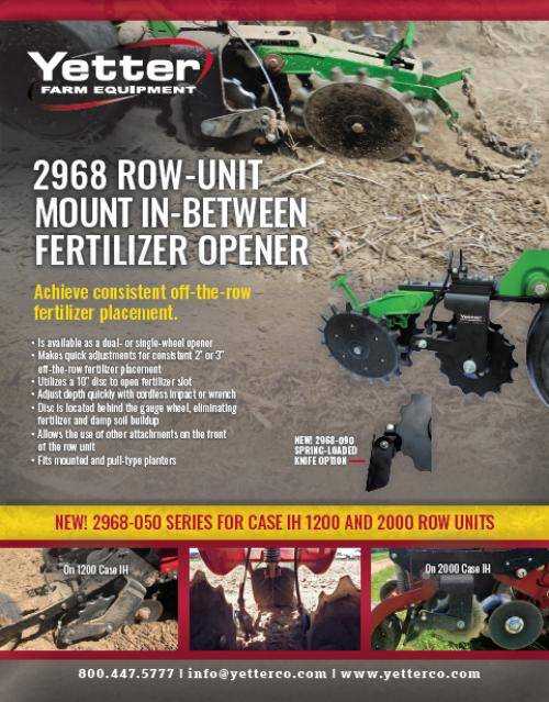 2968 Row- Unit In-Between Fertilizer Opener Flyer